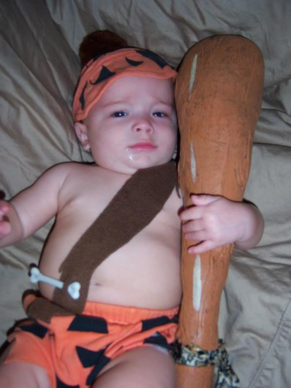 Barney Rubble Flintstone costume DIY  sc 1 st  tiny kelsie : cheap baby costumes  - Germanpascual.Com