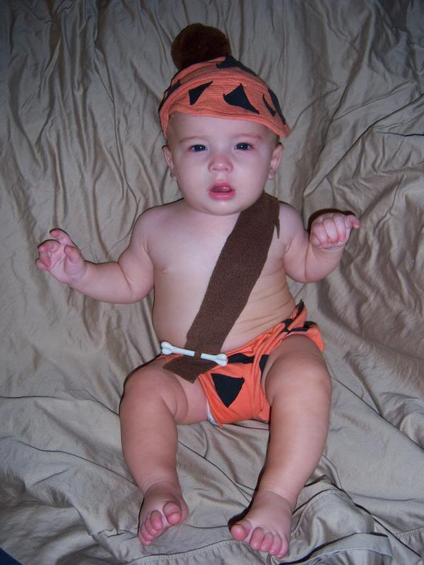 2008 Bam Bam Bettie and Barney Rubble from The Flintstones  sc 1 st  tiny kelsie & Simple u0026 Cheap Family Costumes | tiny kelsie