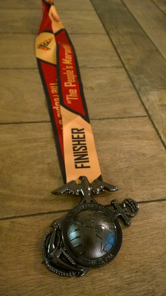 Marine Corps Marathon Washington DC race medal