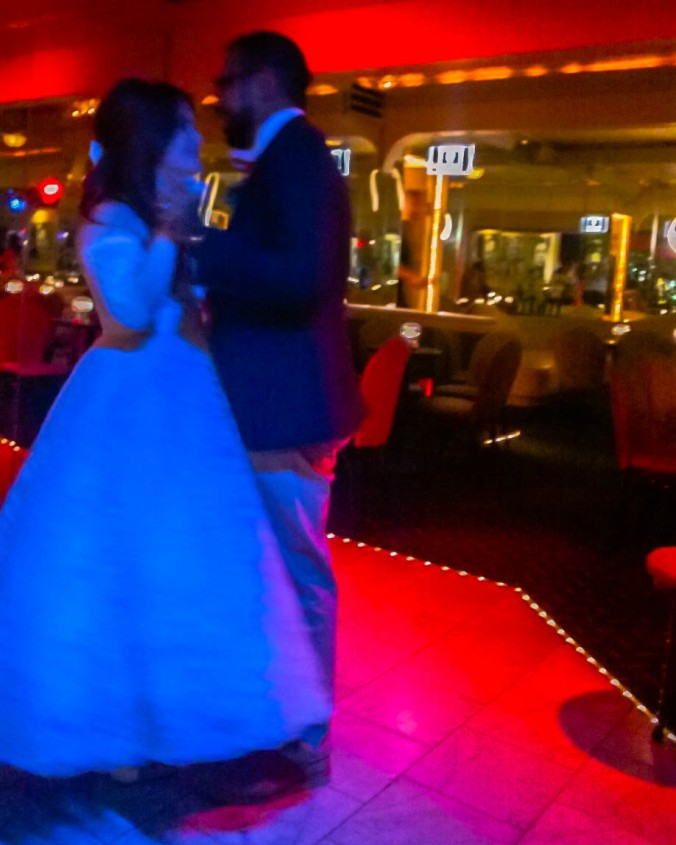 Our first dance as husband and wife, at the famous Melvyn's in Palm Springs