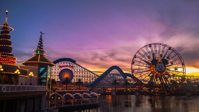 Disneyland California Adventure park sunset