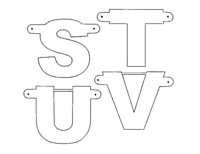 make your own party banner diy S-V