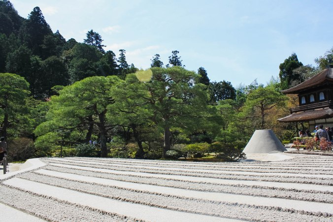 Ginkakuji temple rock formation