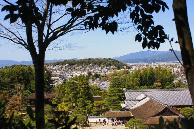 Ginkakuji temple view