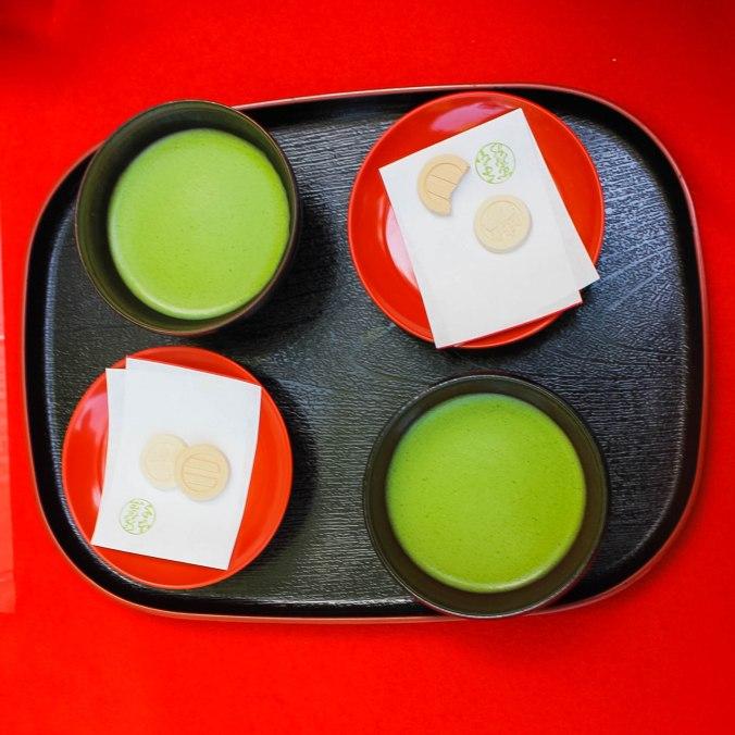 Ginkakuji temple tea