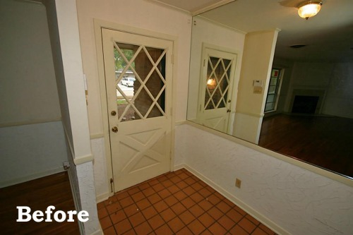 Foyer Before - home before after