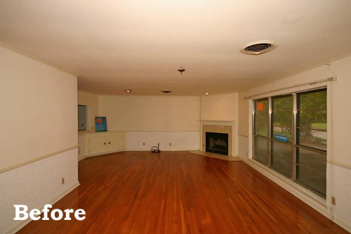 Living and Dining Rooms Before - home before and after