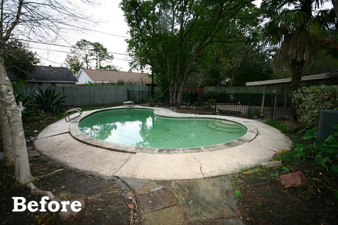 Pool Before - home before and after