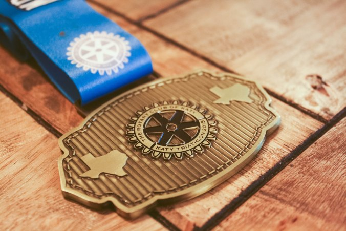 Katy Triathlon at Firethorn Texas Race Medal 2015-2