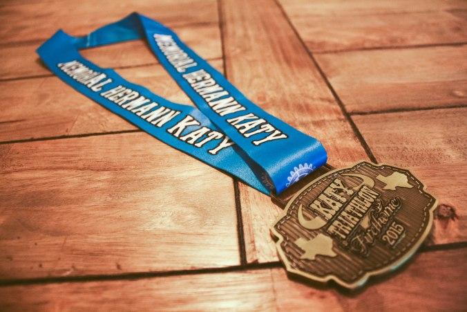 Katy Triathlon at Firethorn Texas Race Medal 2015-3