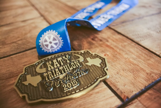 Katy Triathlon at Firethorn Texas Race Medal 2015