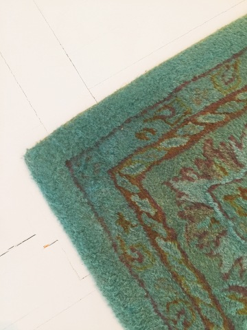 DIY Overdyed Area Rug - tiny kelsie