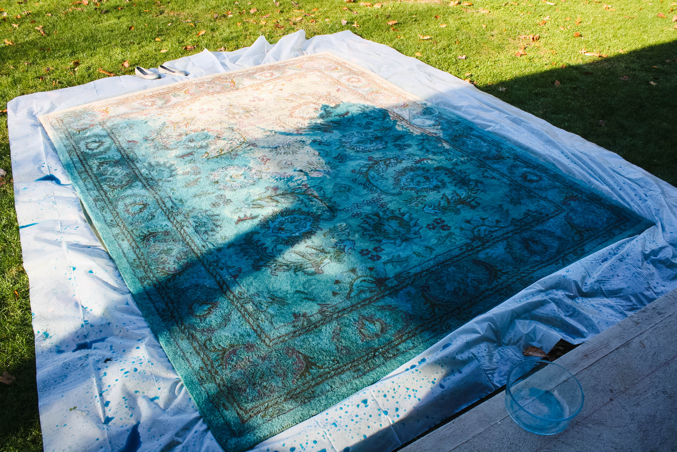 Overdyed Rug with RIT fabric dye DIY-11 | tiny kelsie
