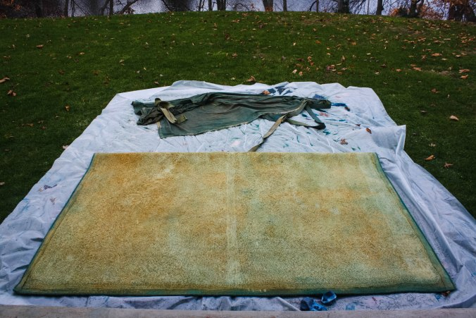 Overdyed Rug with RIT fabric dye DIY-21