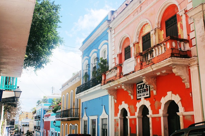 colorful streets of Old San Juan Puerto Rico