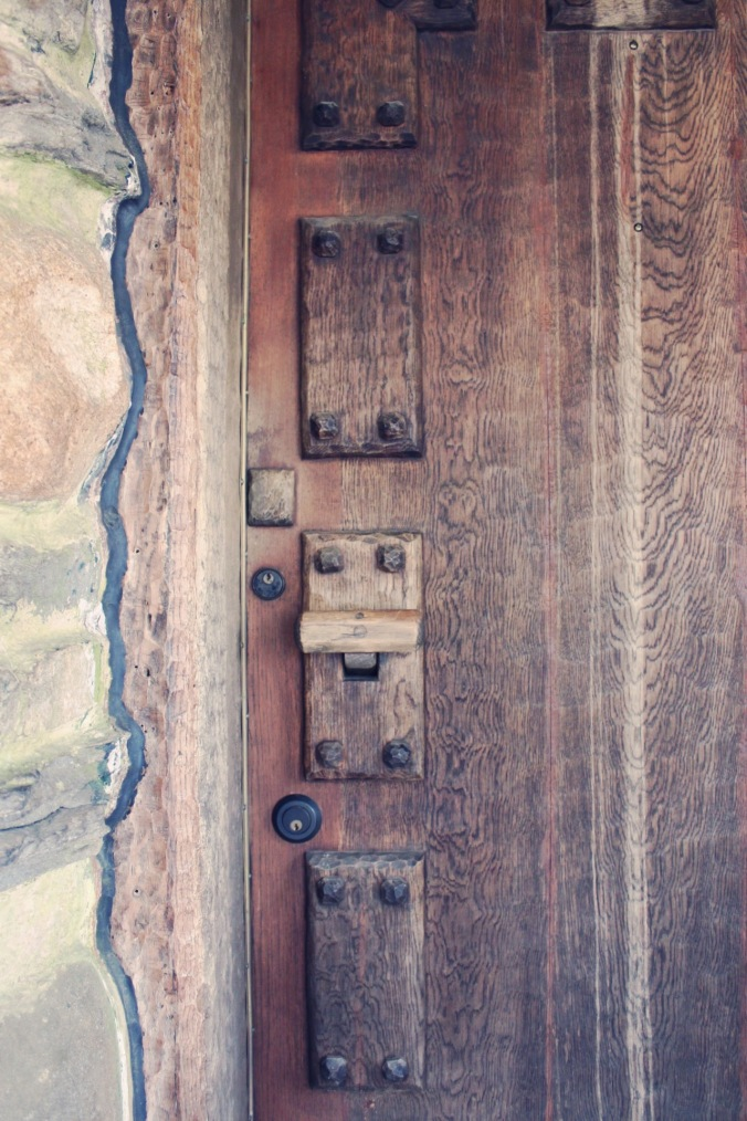Door of Gillette Castle, State Park in East Haddam Connecticut