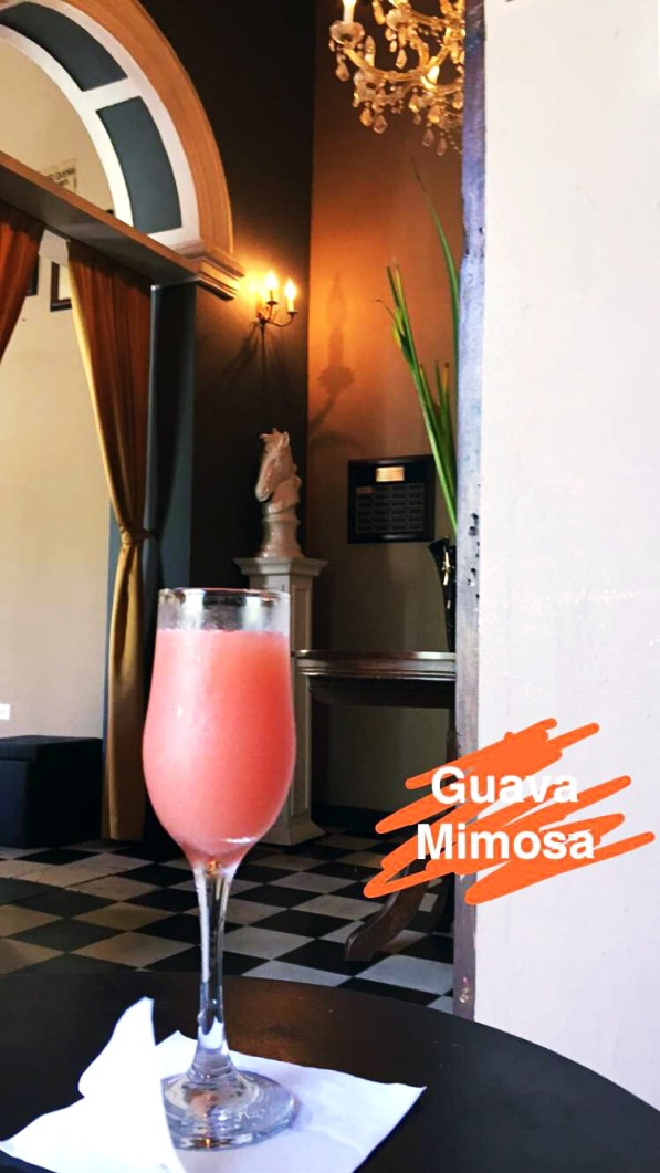 Guava Mimosa at The Mezzanine at St. Germain in Old San Juan, Puerto Rico