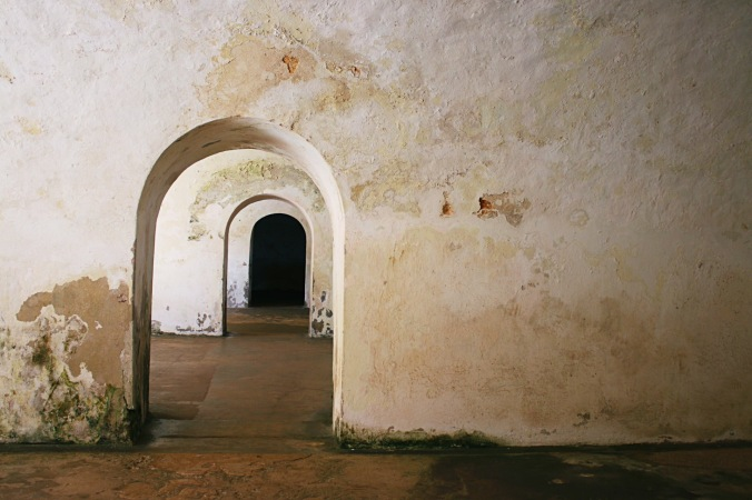 Inside the walls of  Castillo San Felipe del Morro