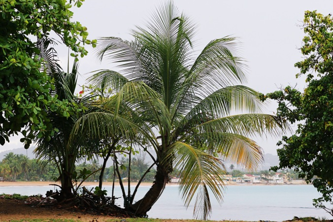 Loquillo Beach in Puerto Rico rainy day