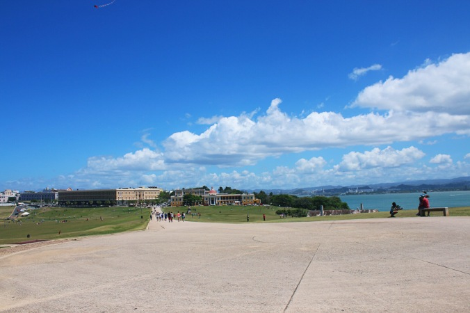 Park space in front of Castillo San Felipe del Morro in Old San Juan, Puerto Rico