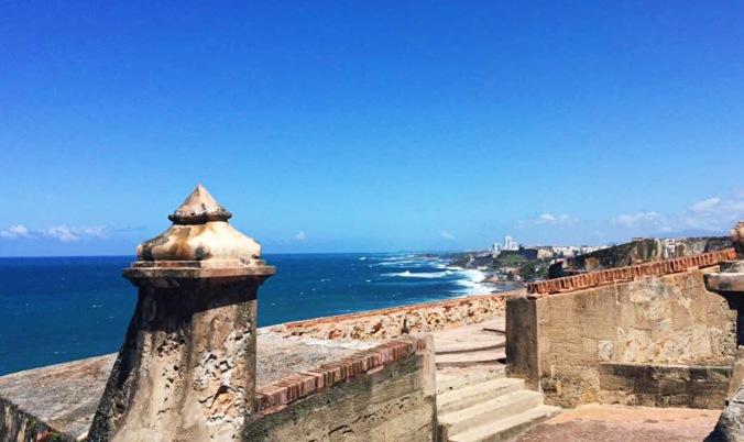 View from Castillo San Felipe del Morro in San Juan, Puerto Rico