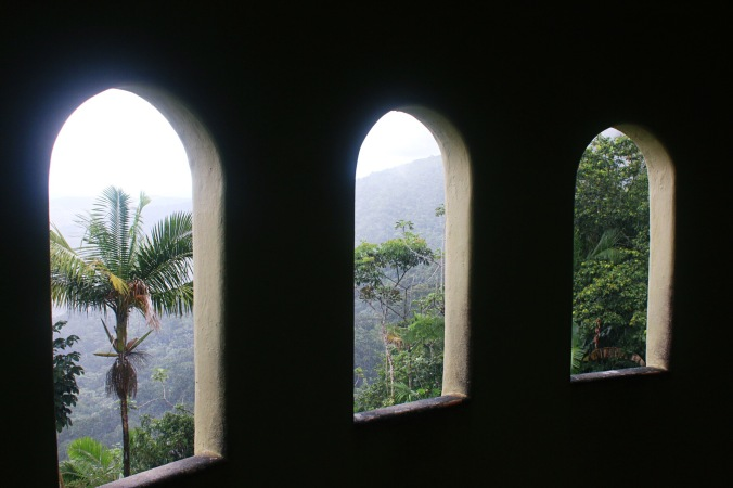 Yokahu Observation Tower in El Yunque Rainforst National Forest view from windows