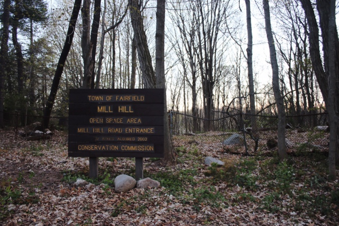 Town of Fairfield Mill Hill Open Space April 30 May Sign