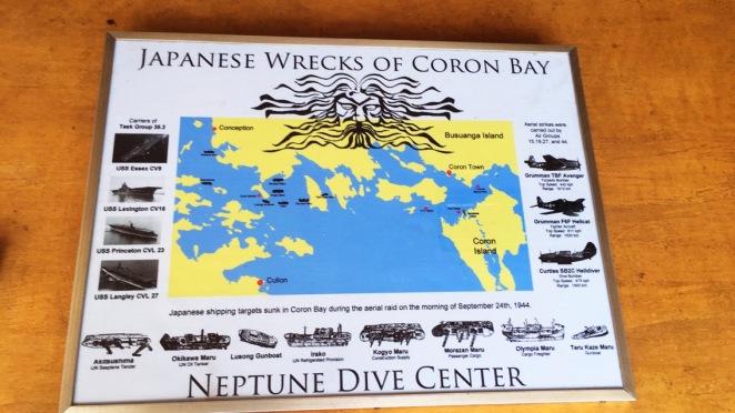 Japanese wrecks of Coron Bay Philippines