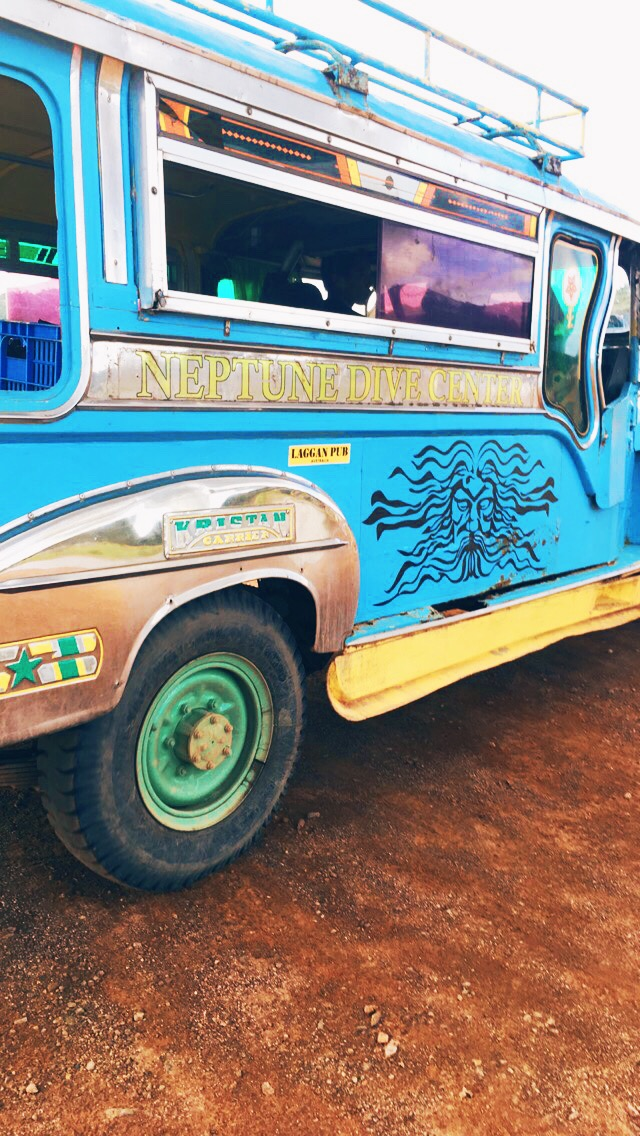 Jeepney for Neptune Dive Center in Coron Philippines