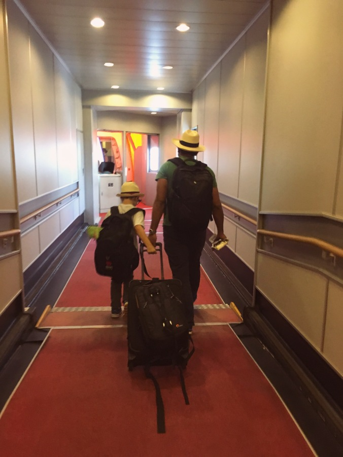 Travelling internationally with our son