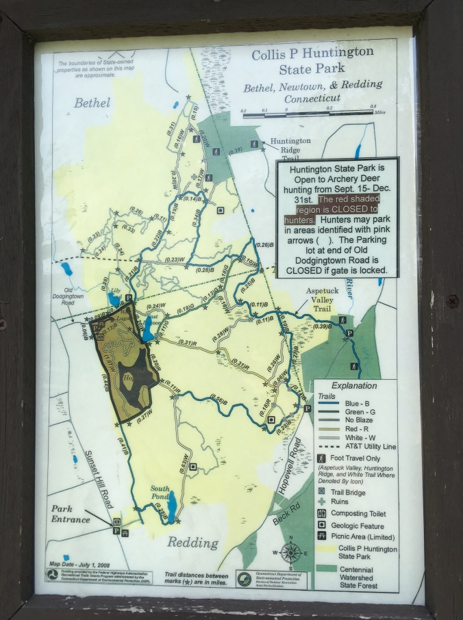 map-of-collin-p-huntington-state-park-in-bethel-redding-and-newtown