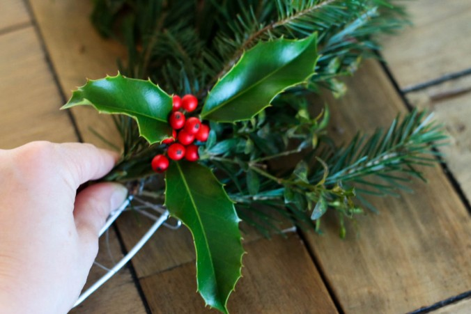diy-natural-christmas-wreath-with-wire-hangers-or-a-hula-hoop-13
