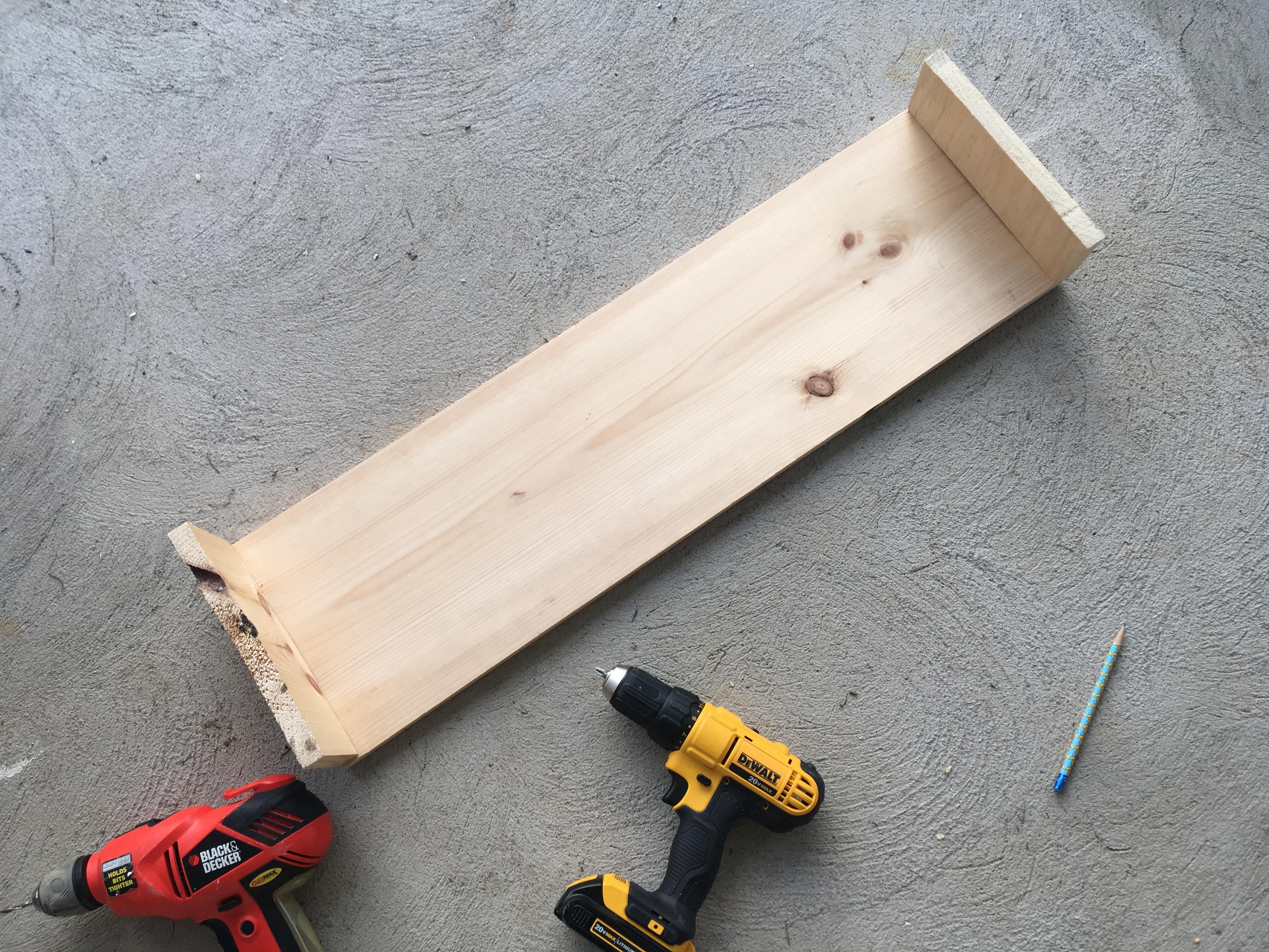 cornice board in progress