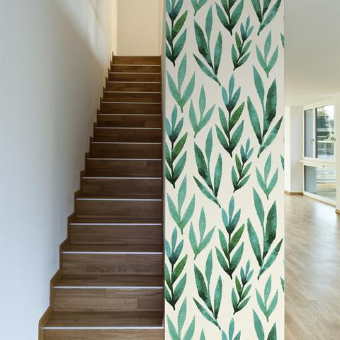 walls need love riverbed leaf wallpaper