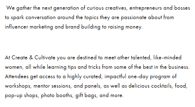 What is create and cultivate NYC?