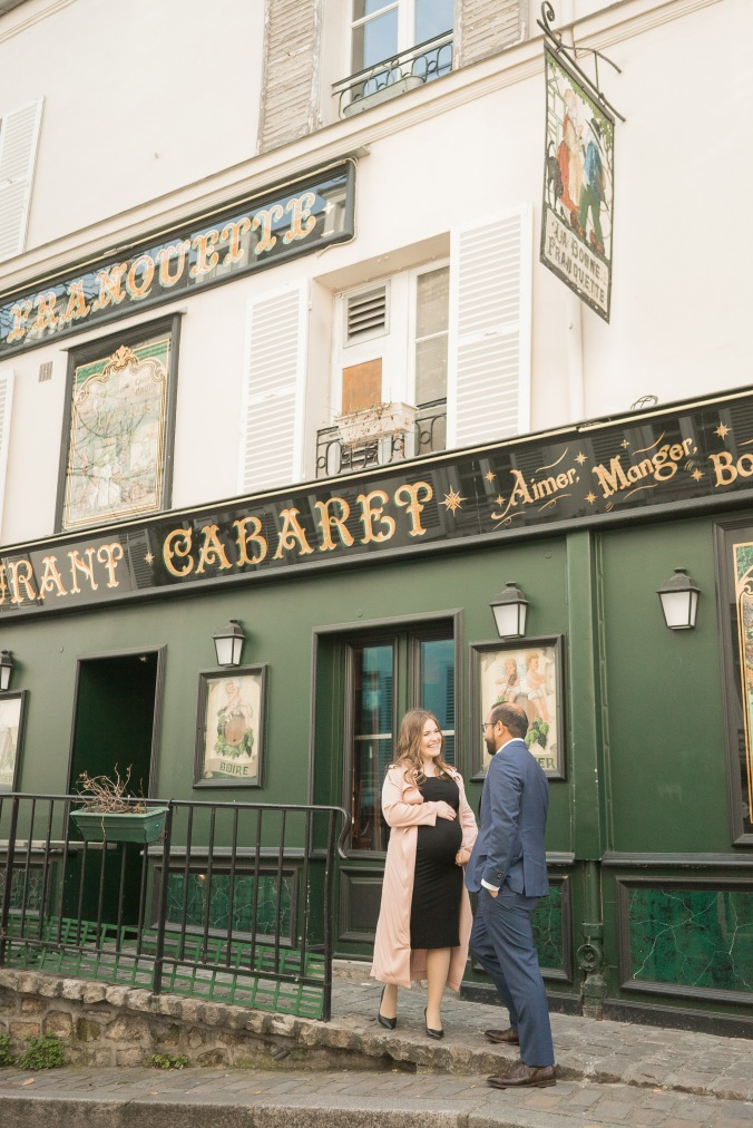 spring babymoon in Paris Monmartre Cabaret April 2018