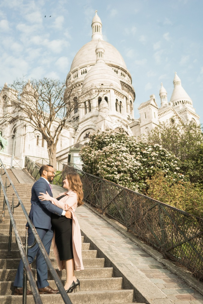 spring babymoon in Paris Sacré-Cœur April 2018