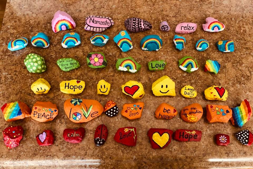 painted stones hopeful messages during covid-19 quarantine