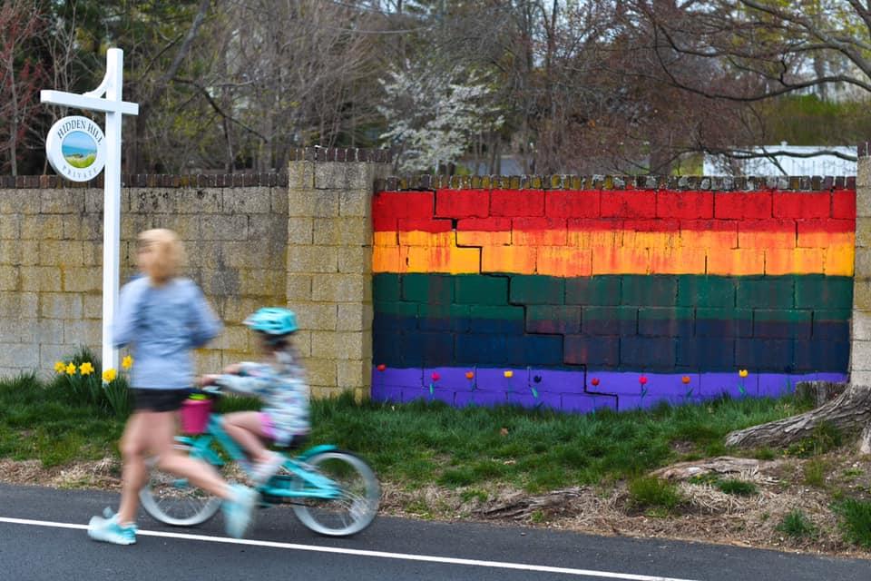 Westport Connecticut hopeful rainbow hunt wall coronavirus